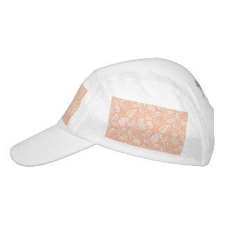Pastellpfirsich Paisley Headsweats Kappe