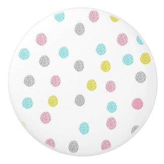 Pastellpolka-Punkt-Keramik-Griff Keramikknauf