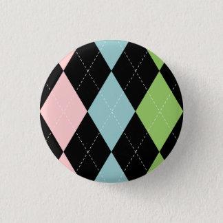 PastellRauten-Knopf Runder Button 3,2 Cm