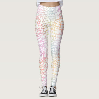 Pastellregenbogen-AlligatorAquarell Whitespace Leggings