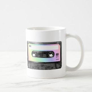 Pastellregenbogen-Aufkleber-Kassette Kaffeetasse