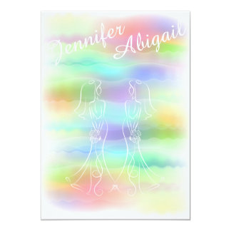 Pastellregenbogen-Braut-homosexuelle Karte