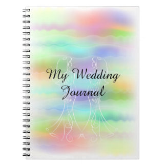 Pastellregenbogen-Bräute, die Zeitschrift Wedding Notizblock