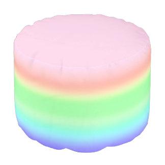 Pastellregenbogen-Eibisch-mehrfarbige Steigung Hocker