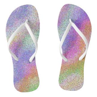Pastellregenbogen Flip Flops