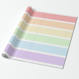 Pastellregenbogen-gestreiftes Packpapier