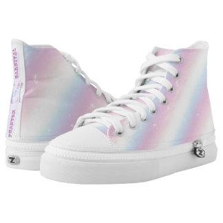 Pastellregenbogen Hoch-geschnittene Sneaker