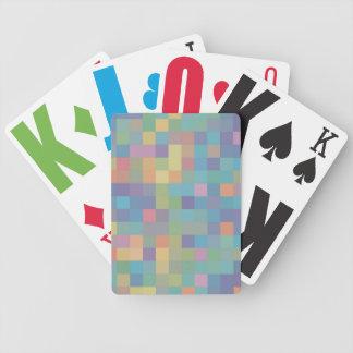Pastellregenbogen-Pixel-Muster Bicycle Spielkarten