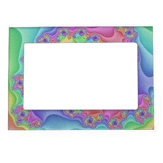 Pastellregenbogen-Spiralen-Bilderrahmen Magnetischer Fotorahmen