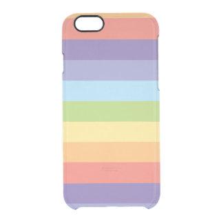 Pastellregenbogen stripes Gay Pride Durchsichtige iPhone 6/6S Hülle