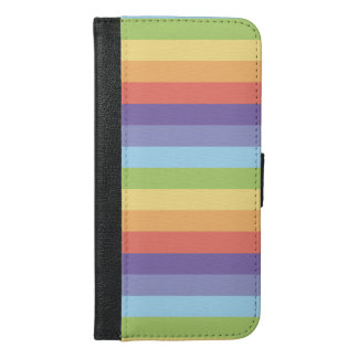 Pastellregenbogen stripes Gay Pride iPhone 6/6s Plus Geldbeutel Hülle