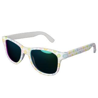 Pastellregenbogenstatic-Kreise Sonnenbrille