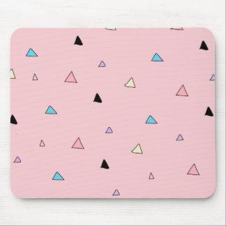 Pastellrosa bessert Süßigkeits-Chip-geometrische Mousepad
