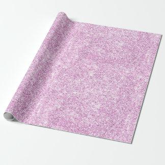 Pastellrosa-Glitter-Muster-Druck-eleganter Luxus Geschenkpapier