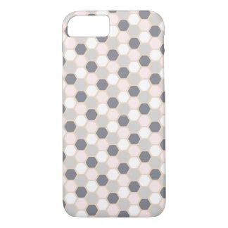 Pastellrosa-Hexagon-Telefon-Kasten iPhone 7/8 iPhone 8/7 Hülle