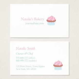 Pastellrosa-Kuchen-Bäckerei-Gebäck-Visitenkarten Visitenkarte