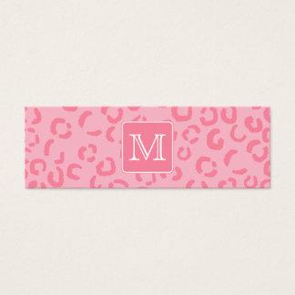 Pastellrosa-Leopard-Druck. Kundenspezifisches Mini Visitenkarte