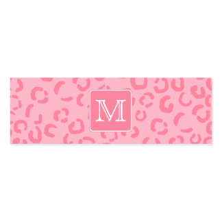 Pastellrosa-Leopard-Druck. Kundenspezifisches Mini-Visitenkarten