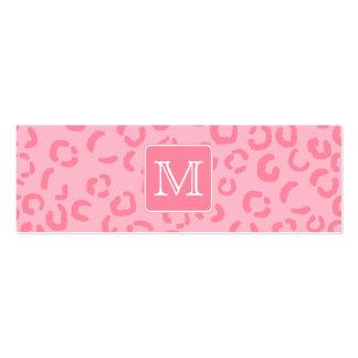 Pastellrosa-Leopard-Druck. Kundenspezifisches Visitenkarte