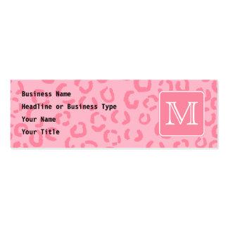 Pastellrosa-Leopard-Druck. Kundenspezifisches Visitenkarten Vorlage