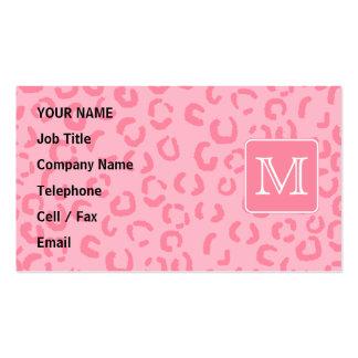 Pastellrosa-Leopard-Druck. Kundenspezifisches Visitenkarten