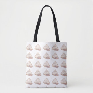 Pastellrosa-Muschel-Spirale Tasche