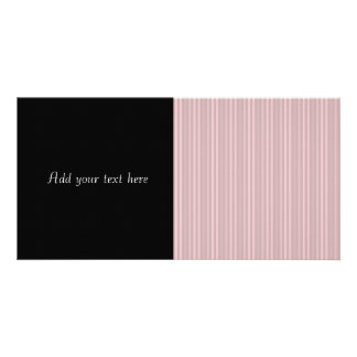 Pastellrosa-vertikale Streifen Fotokartenvorlagen