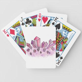 Pastellrosalila Watercolor-Kristall-Gruppe Bicycle Spielkarten