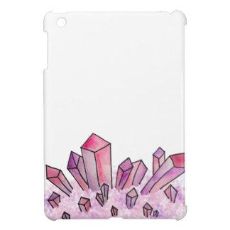 Pastellrosalila Watercolor-Kristall-Gruppe iPad Mini Hülle