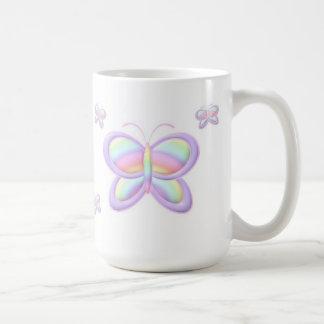 Pastellschmetterling Kaffeetasse