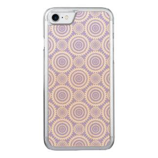 Pastellsingrün-blaues geometrisches Muster Carved iPhone 8/7 Hülle