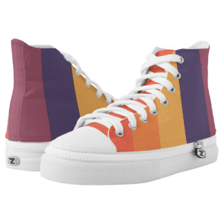 Pastellsonnenuntergang-Streifen Hoch-geschnittene Sneaker