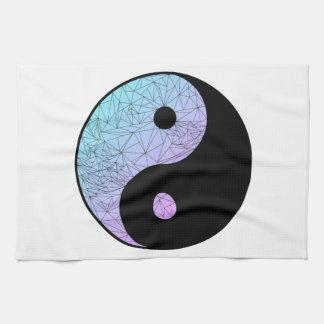 Pastellsteigung Yin Yang Geschirrtuch