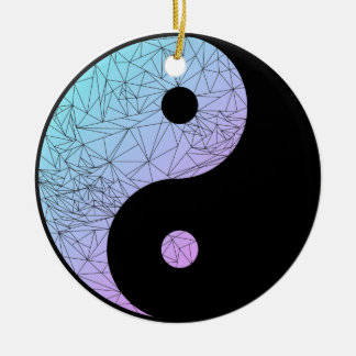 Pastellsteigung Yin Yang Keramik Ornament