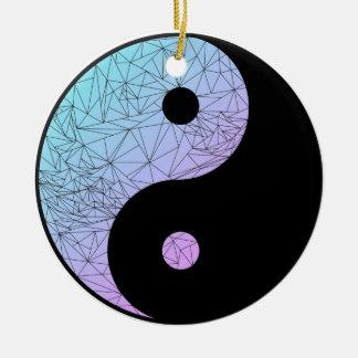 Pastellsteigung Yin Yang Rundes Keramik Ornament