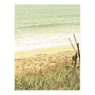 Pastellstrand-Fotografie Postkarte