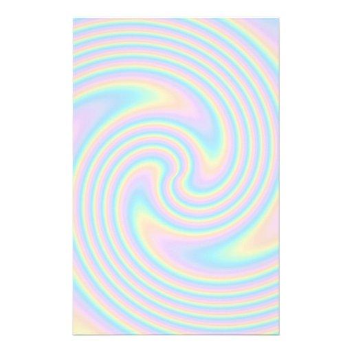 Pastellstrudel-Drehungs-Entwurf Individuelle Büropapiere