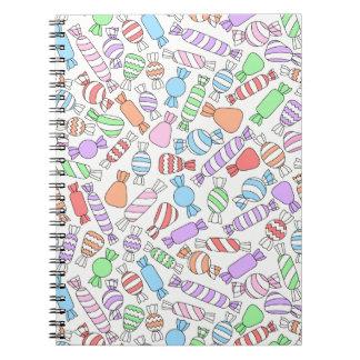 Pastellsüßigkeits-Notizbuch Notizblock