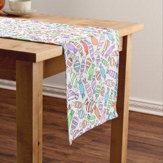 Pastellsüßigkeitstabellenläufer Kurzer Tischläufer