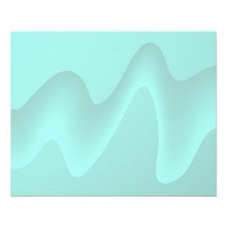 Pastelltürkis-abstraktes Strudel-Bild 11,4 X 14,2 Cm Flyer