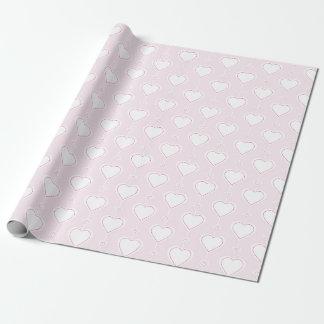 PastellValentinsgruß-Herzen Einpackpapier