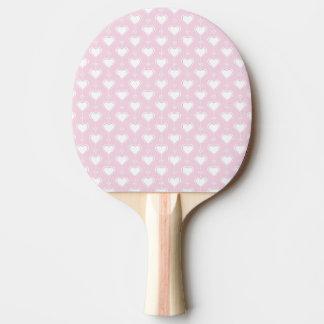PastellValentinsgruß-Herzen Tischtennis Schläger
