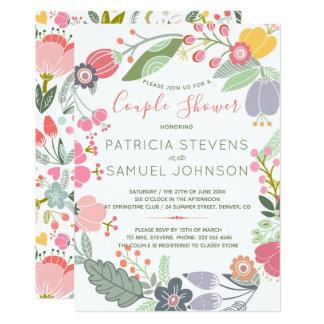 PastellWildblumenwiese Wreath-Paardusche Karte