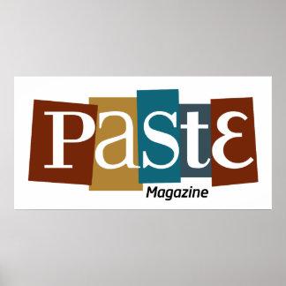 Pasten-Block-Logo-Zeitschriften-Farbe Poster