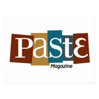 Pasten-Block-Logo-Zeitschriften-Farbe Postkarte