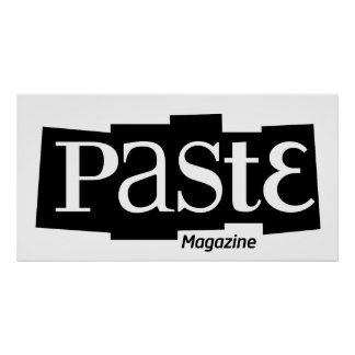 Pasten-Block-Logo-Zeitschriften-Schwarzes Plakatdruck