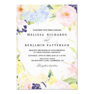 Paster-Frühlings-Blumen, die Einladung Wedding