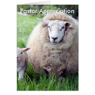 Pastor-Anerkennungs-Karte Karte