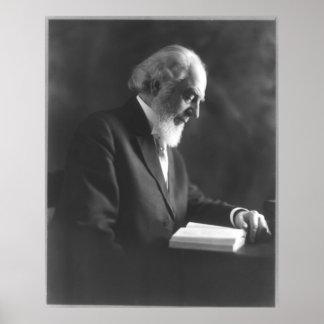 Pastor Charles Taze Russell, der Bibel liest Poster