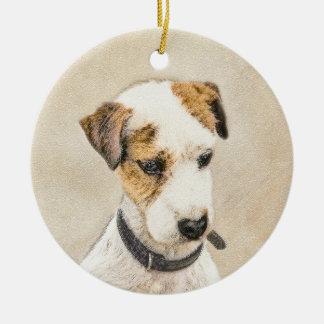 Pastor-Jack-Russell-Terrier, der die 2 Hundekunst Keramik Ornament